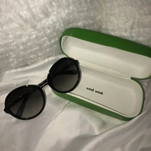 Black and gold Kate Spade sunglasses